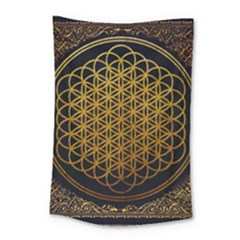 Bring Me The Horizon Cover Album Gold Small Tapestry by Onesevenart