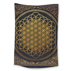 Bring Me The Horizon Cover Album Gold Large Tapestry by Onesevenart