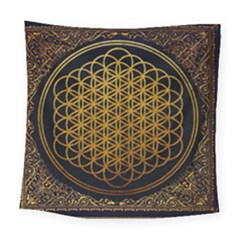 Bring Me The Horizon Cover Album Gold Square Tapestry (large) by Onesevenart