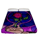Enchanted Rose Stained Glass Fitted Sheet (King Size)