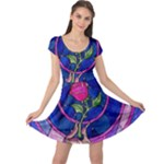 Enchanted Rose Stained Glass Cap Sleeve Dress