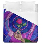 Enchanted Rose Stained Glass Duvet Cover (Queen Size)