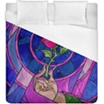 Enchanted Rose Stained Glass Duvet Cover (King Size)