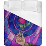 Enchanted Rose Stained Glass Duvet Cover (California King Size)