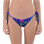 Enchanted Rose Stained Glass Reversible Bikini Bottom