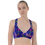 Enchanted Rose Stained Glass Sweetheart Sports Bra