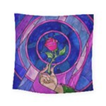 Enchanted Rose Stained Glass Square Tapestry (Small)