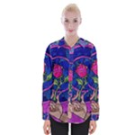 Enchanted Rose Stained Glass Womens Long Sleeve Shirt
