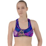 Enchanted Rose Stained Glass Criss Cross Racerback Sports Bra