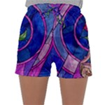 Enchanted Rose Stained Glass Sleepwear Shorts