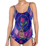 Enchanted Rose Stained Glass Tankini Set