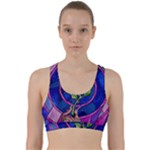 Enchanted Rose Stained Glass Back Weave Sports Bra