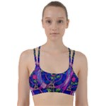 Enchanted Rose Stained Glass Line Them Up Sports Bra