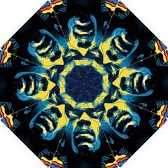 Gabz Jimi Hendrix Voodoo Child Poster Release From Dark Hall Mansion Hook Handle Umbrellas (small) by Onesevenart