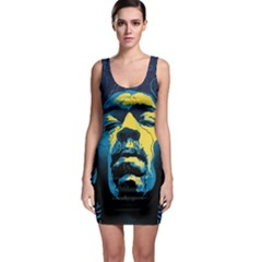 Gabz Jimi Hendrix Voodoo Child Poster Release From Dark Hall Mansion Bodycon Dress by Onesevenart