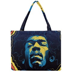 Gabz Jimi Hendrix Voodoo Child Poster Release From Dark Hall Mansion Mini Tote Bag by Onesevenart
