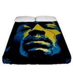 Gabz Jimi Hendrix Voodoo Child Poster Release From Dark Hall Mansion Fitted Sheet (Queen Size)