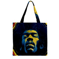 Gabz Jimi Hendrix Voodoo Child Poster Release From Dark Hall Mansion Zipper Grocery Tote Bag by Onesevenart