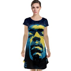 Gabz Jimi Hendrix Voodoo Child Poster Release From Dark Hall Mansion Cap Sleeve Nightdress by Onesevenart