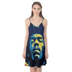Gabz Jimi Hendrix Voodoo Child Poster Release From Dark Hall Mansion Camis Nightgown by Onesevenart