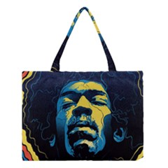 Gabz Jimi Hendrix Voodoo Child Poster Release From Dark Hall Mansion Medium Tote Bag by Onesevenart
