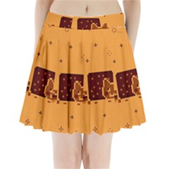 Nyan Cat Vintage Pleated Mini Skirt by Onesevenart
