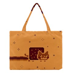 Nyan Cat Vintage Medium Tote Bag by Onesevenart
