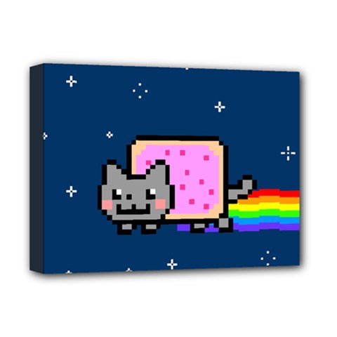Nyan Cat Deluxe Canvas 16  X 12   by Onesevenart