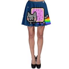 Nyan Cat Skater Skirt by Onesevenart