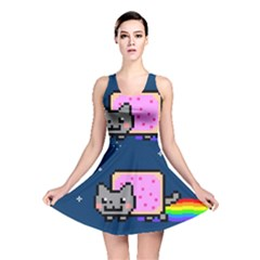 Nyan Cat Reversible Skater Dress by Onesevenart