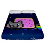 Nyan Cat Fitted Sheet (Queen Size)