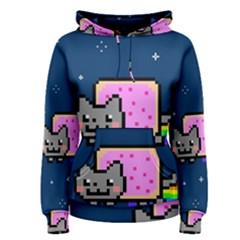 Nyan Cat Women s Pullover Hoodie by Onesevenart