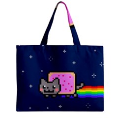 Nyan Cat Zipper Mini Tote Bag by Onesevenart