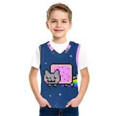Nyan Cat Kids  Sportswear by Onesevenart