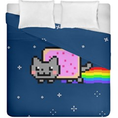 Nyan Cat Duvet Cover Double Side (king Size) by Onesevenart