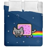 Nyan Cat Duvet Cover Double Side (California King Size)