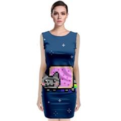 Nyan Cat Classic Sleeveless Midi Dress by Onesevenart