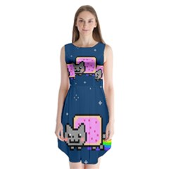 Nyan Cat Sleeveless Chiffon Dress   by Onesevenart