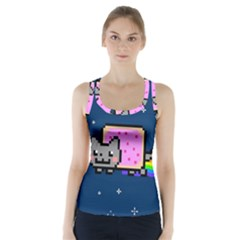 Nyan Cat Racer Back Sports Top by Onesevenart