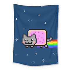 Nyan Cat Medium Tapestry by Onesevenart