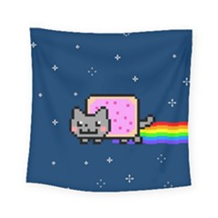 Nyan Cat Square Tapestry (small) by Onesevenart