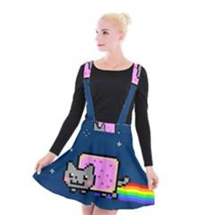 Nyan Cat Suspender Skater Skirt by Onesevenart