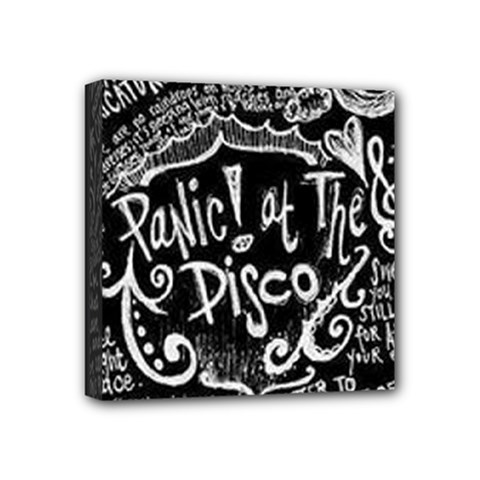 Panic ! At The Disco Lyric Quotes Mini Canvas 4  X 4  by Onesevenart