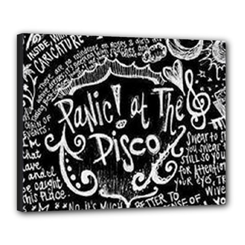 Panic ! At The Disco Lyric Quotes Canvas 20  X 16  by Onesevenart