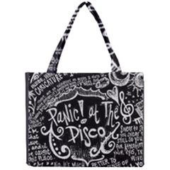 Panic ! At The Disco Lyric Quotes Mini Tote Bag by Onesevenart