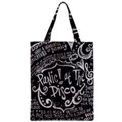 Panic ! At The Disco Lyric Quotes Zipper Classic Tote Bag by Onesevenart