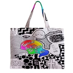 Panic ! At The Disco Zipper Mini Tote Bag by Onesevenart
