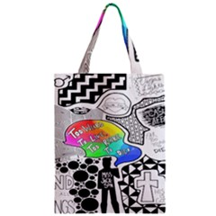 Panic ! At The Disco Zipper Classic Tote Bag by Onesevenart