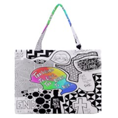 Panic ! At The Disco Medium Zipper Tote Bag by Onesevenart