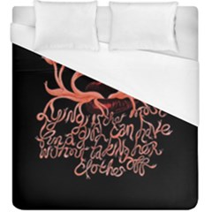 Panic At The Disco   Lying Is The Most Fun A Girl Have Without Taking Her Clothes Duvet Cover (king Size) by Onesevenart